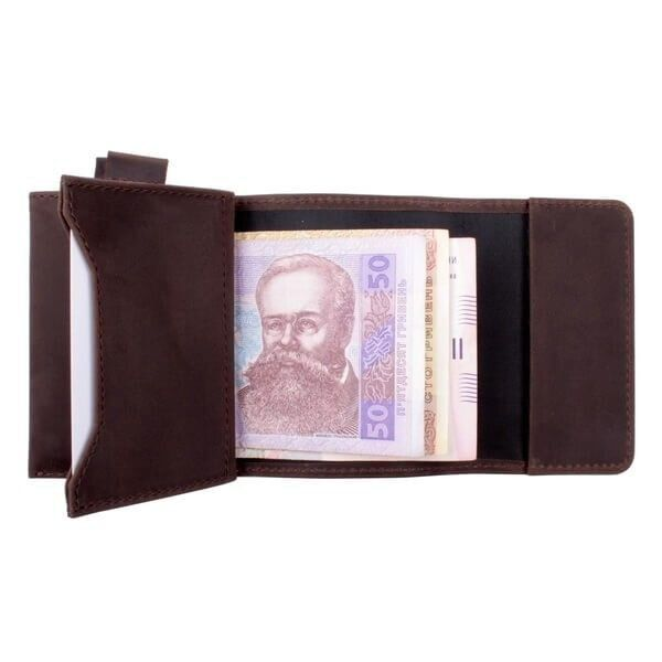 Valenta leather men's brown money clip ХР156