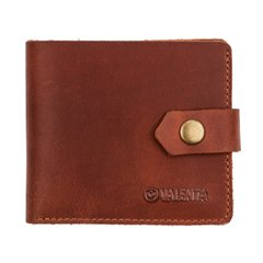 Men's leather wallet HR197 with a pocket for coins Crazy Horse Cognac